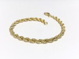 14 K Gouden Koord Armband - 19 cm / 5,4 g / 4,5 mm