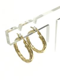 14 K Gouden Gefacetteerde Creolen - 2,1 cm