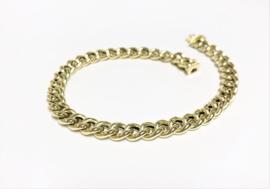 14 K Gouden Gourmet Schakel Armband - 20 cm / 8,25 g