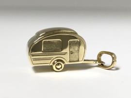 Vintage 14 K Gouden Bedel Caravan / Wagen - 2,3 cm