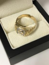 14 K Gouden Heren Rolex Ring 0.30 crt Briljantgeslepen Diamant SI TW