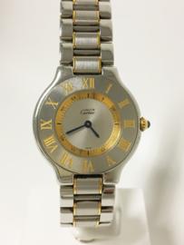 Cartier Must de 21 Staal / Goud - 31 mm