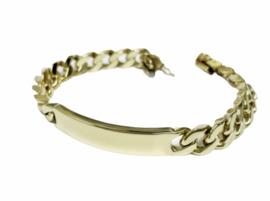 14 K Massief Gouden Gourmet Plaat Armband Heren - 20 cm / 57,3 g / 9 mm