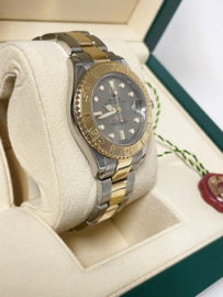 Rolex Yacht Master 35 mm Grey Dial Gold Steel Bicolor 168323