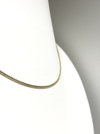 14 K Gouden Gourmet Collier - 38 cm / 3,7 g / 1,7 mm