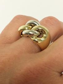 Grove 14 K Bicolor Gouden Schakel Ring - 15,8 g