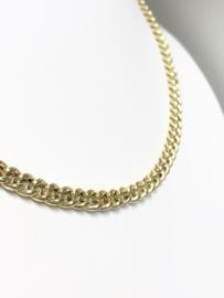 14 K Gouden Gourmet Schakel Collier (hol) - 45 cm / 11 g / 5 mm