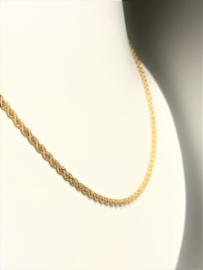 18 K Massief Gouden Rope Koord Ketting - 62 cm / 15,5 g / 2,7 mm