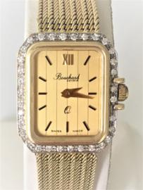Bouchard 14 K Gouden Dameshorloge  0.32 crt Briljantgeslepen Diamant