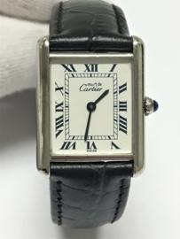 Zilveren Must de Cartier  Tank Quartz - Dames Polshorloge 01475