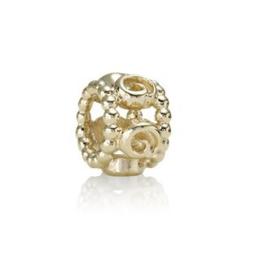 PANDORA 750456 Gold Ring of Roses Gouden Bedel (Retired)