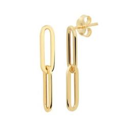 14 K Gouden Oorhangers Anker Schakel - 2,7 cm