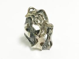 Grote Zilveren Fantasie Ring - 14,5 g