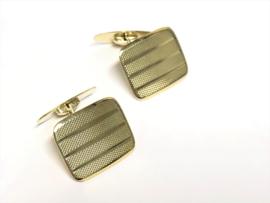 Antiek Handvervaardigd Gouden Manchetknopen - Jaren '30 / Meesterteken