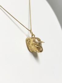 14 K Gouden Hanger / Bedel - Stierenkop