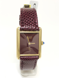 Cartier Must de Cartier Tank Large - Burgundy Red Lacquer / Wijn Rood