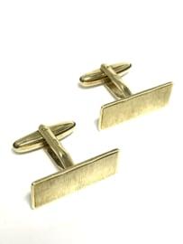 Antiek 14 K Gouden Manchetknopen Boomschors Motief - 11,5 g