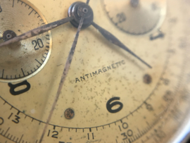 CHRONOGRAPHE SUISSE - 18 K Gouden Polshorloge (Handopwinder) Jaren '40/'50