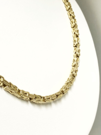 14 K Gouden Koningsketting Byzantijns (hol) - 60 cm / 18,3 g / 3.5 mm