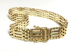 14 K Gouden Schakel Armband - 19 cm / 16,5 g