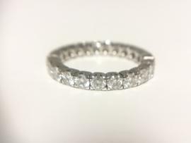 18 K Witgouden Alliance Ring 1,84 crt Briljantgeslepen Diamant Top Wesselton