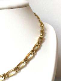 14 K Gouden Schakel Collier - Verstelbaar 41-47,5 cm