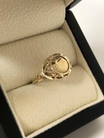 Vintage 8 Karaat Antieke Ring Kennedy Muntje 1969