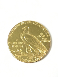 American Half Eagle 5 Gold Dollar - Indian Head