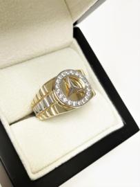 14 Karaat Gouden Mercedes Ring Heren - 9,5 g