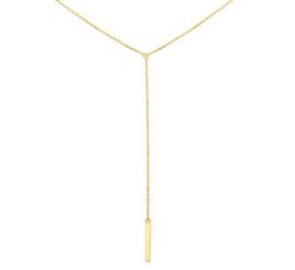 14 K Gouden Anker Collier (verstelbaar) - Hanger Met Balkje