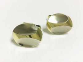 14 K Bicolor Gouden Manchetknopen - 14,22 g