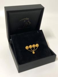 Antiek Handvervaardigd Gouden Ketting Broche Zeeuwse Knopen ca 1900