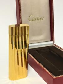 Cartier 18 Karaat Goud Vergulde Aansteker in Originele Doos