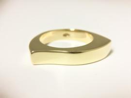 14 K Gouden Fantasie Slag Ring