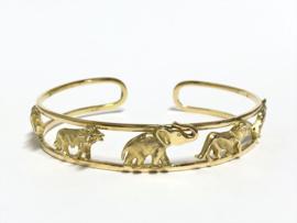 18 Karaat Gouden Slaven Armband - Wild Animals / 23,15 g