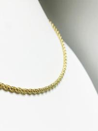 14 K Gouden Koord Collier - 45 cm / 2mm