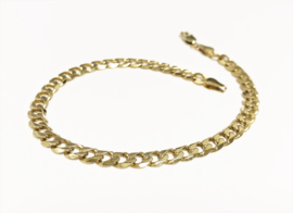 14 K Gouden Gourmet Schakel Armband - 22,5 cm / 11,15 g
