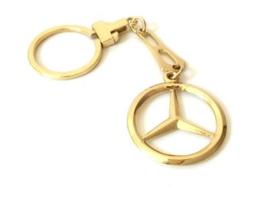 14 K Gouden Sleutelhanger Mercedes - 9 cm / 13,8 g