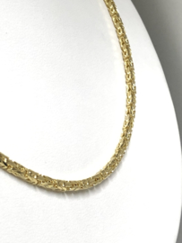 14 K Gouden Koningsketting Byzantijns - 59,5 cm / 26,3 g