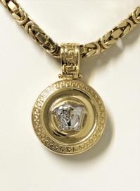 14 K Bicolor Gouden Hanger Versace / Medusa - 4,5 cm