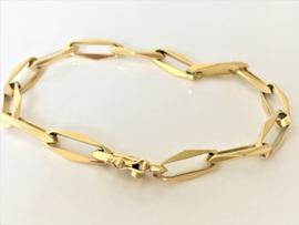 14 K Gouden Closed Forever Schakel Armband
