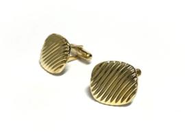 14 K Antiek Handvervaardigd Gouden Manchetknopen