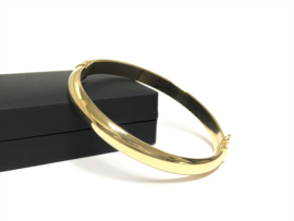 14 Karaat Gouden Slaven Armband Bangle - 7,5 mm / 17,5 cm