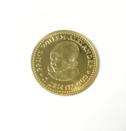 Gouden Geboorte Penning Willem Alexander 1967 - 6,729 g