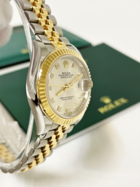 Rolex Oyster Perpetual Datejust Ladies Silver Diamond Dial 28 mm Full Set 2021