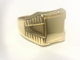 14 K Gouden Heren Zegel Ring - 6,05 g