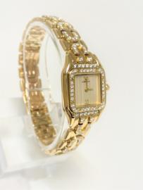Cartier Panthere Art Deco Diamond Opaline Roman Dial Incl Documentatie / 2 Jaar Garantie Cartier