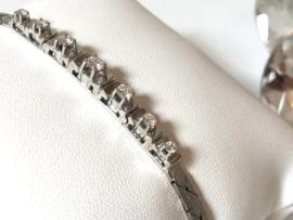 14 K Witgouden Armband 0.50 crt Briljantgeslepen Diamant H / VVSl