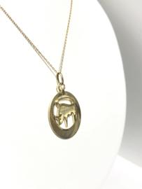 Fabiola 14 K Gouden Hanger Sterrenbeeld Stier - 3 cm