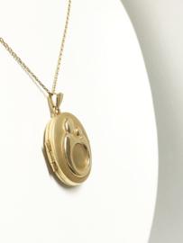 Moeder Kind 14 K Gouden Medaillon Foto Hanger - 2,7 cm